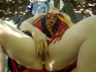 Perverted chubby whorable mature lady was super slow during her masturbation