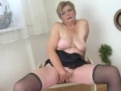 Busty Dutch chick with saggy tits and her love for the sex toys