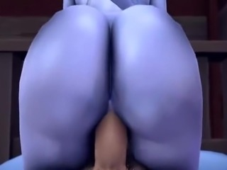 Widowmaker's sexy blue ass
