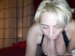 Horny blonde MILF stranger from internet