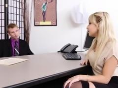 WANKZ - Cute Blonde Secretary Fucks Her Boss!