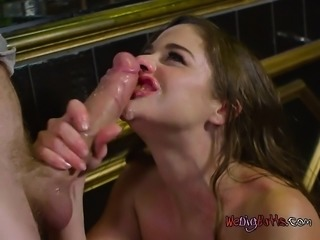 Chick Cathy Heaven Enjoys Dicking From Bartender