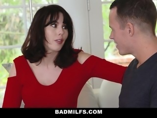 BADMilfs- Step-MOM Jacks Off and Fucks Step-Son