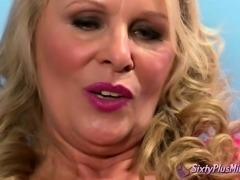 Mature secretary Claire fucks her boss