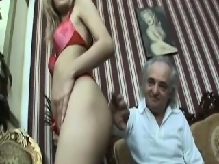 Slutty blonde whore fucked by horny handicapped guy