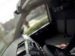 Fucked In Traffic - Czech bitch Chelsy Sun giving blowjob in a car wash