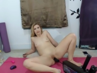 FUCK Machine in PUSSY with SQUIRT