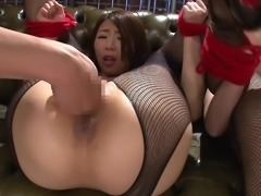 two japanese milfs fisted by two guys
