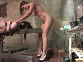 Horny Bobbi Starr Dominates Guy for a Crazy Cock Ride in Femdom Bondage