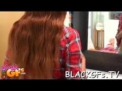 Black busty sex doll sucks penis