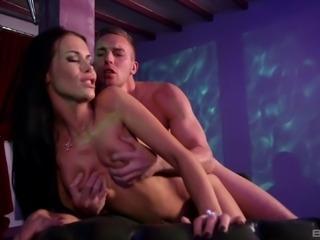 Stunning brunette Megan Coxxx is in need of her lover's big dick