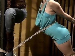 Skillful furious cougar Mandy Bright with big jaw dropping melons and long...