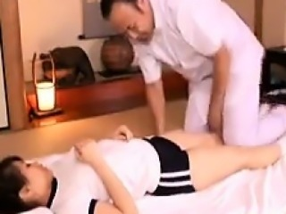 Pervert doctor gets to examine Asian schoolgirls in a nasty