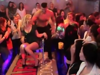 Flirty nymphos get totally crazy and naked at hardcore party