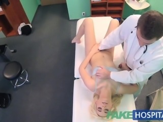 Fake Hospital Shy patient with soaking wet pussy squirts