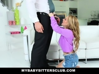 MyBabySittersClub- Teen Babysitter Banged By Pervert Boss