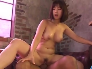Wakaba Onoue goes down on two tasty dicks