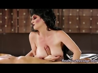 Jizz soaked nuru masseuse