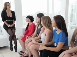 Women get together for hot fun in lesbian orgy