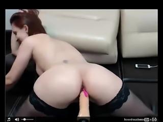 sexy girl fucks dildo on webcam more videos on lewdwebcams.com