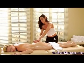 Cute assed masseuse trib
