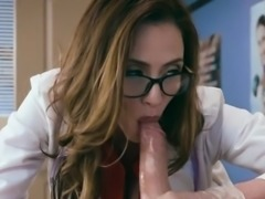 Sexy Doctor Ariella Ferrera Plays With Patients Cock