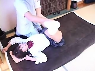 Lovely Japanese teen surrenders her sweet body to a skillfu