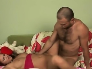 Wild hunks are taking turn pounding beauty's pussy