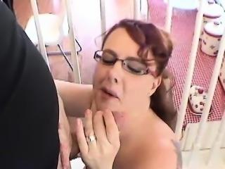 Big boobs redhead milf gets her face jizzed