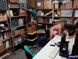 Slim brunette theft Eden Sin gets fucked hard by LP officer