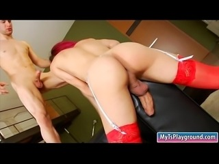 Big boobs redhead shemale and nasty man boning each assesMonsterdick 0313