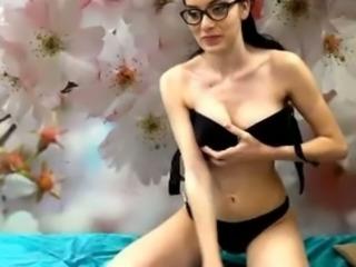 Cute amateur girl show her clitoris while we webcam