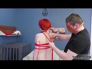 Deep gagging extreme and anal strapon rough sex They make her play