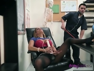 Busty Teacher Tegan James Blows Hung Janitor