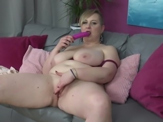Silana is old but her sexual hunger increased with age and till now, nobody gave her the real sexual satisfaction. So, she prefers to finger her pussy. In this video also, the BBW lady started fingering and after it became wet, she inserted a pink dildo, lubricating it with saliva.