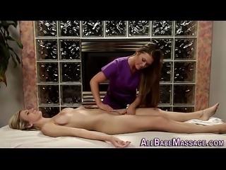 Pussy tasted masseuse les