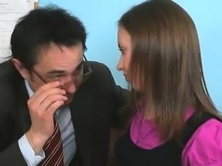 Sweet lass getting her beaver deflowered by teacher