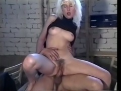Insatiable blonde whore and her friend share young stud