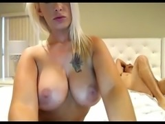 Perfer tits blonde girlfriend topless chatting on webcam - camtocambabe.com