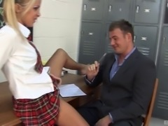 Erotic classroom moments with sex machine Suzie Best