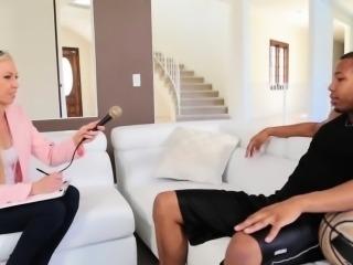 Teen gets interracial fucking and an oral-stimulation job