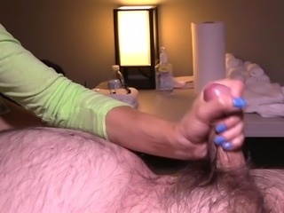 Fat Man Gets A Handjob