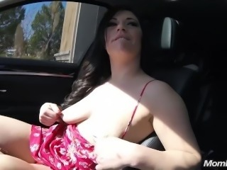 Bubble Butt MILF Swallows Cock in Public Pov