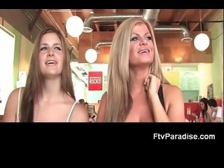 FTV Girls FTV Taryn awesome blonde babe with her babefriend in a diner