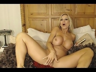 Milf with big tits masturbating with a dildo - more on www.viewcamgirls.com
