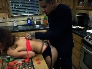 Bondage denial and rough bdsm threesome Poor Jade Jantzen.