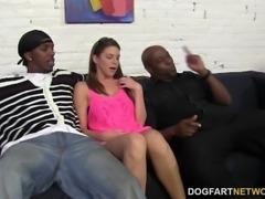 Brooklyn Chase's First Interracial Gangbang