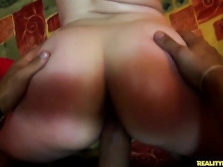 Bruno Dickenz with bubbly ass and hairless pussy makes