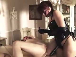 Wild bitch fucks saucy dark haired hottie Shay Lynn and one more submissive...