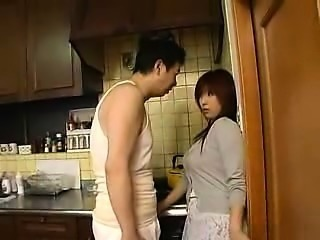 Stacked Oriental housewife surrenders her wet slit to her h